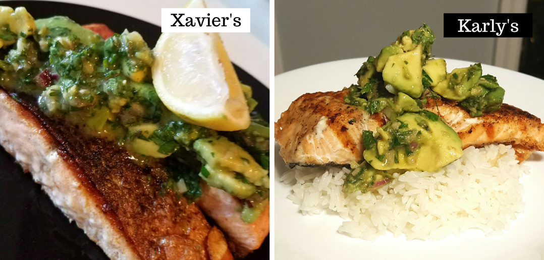 Food baby grilled salmon with avocado chimichurri core temp arts food baby grilled salmon with avocado chimichurri forumfinder Choice Image